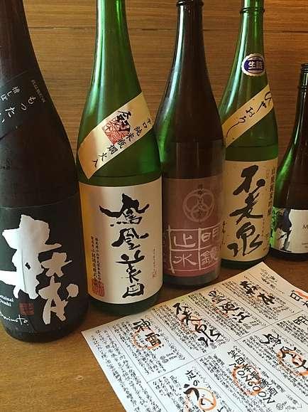 こだわりの厳選日本酒森本、鳳凰美田、不老泉