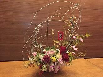 ひなたには美しいお花も飾って有ります
